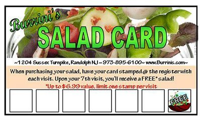 Salad Rewards Card